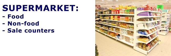 rafturi pentru supermarket